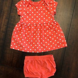 Carters polka dot dress